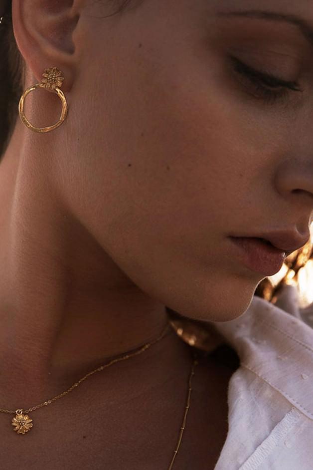 Boucles d'oreilles MARGUERITE medium