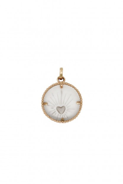Coeur Sacré Pendant with Rock Crystals