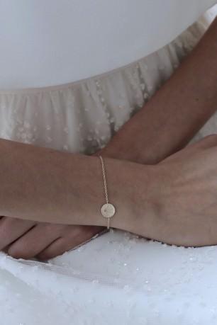 Bracelet jonc Coeur Sacré Cristal de roche