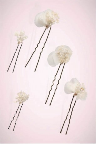 Set of 5 BLANCA hairpins