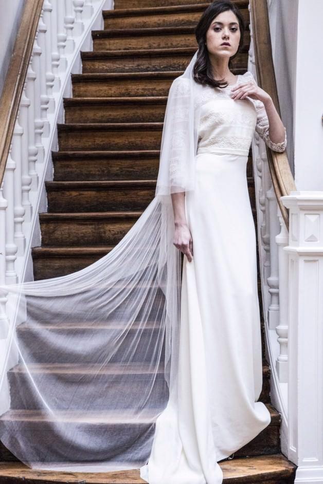 Long silk veil