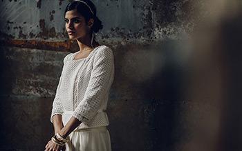 Veste Homère portée sur la robe Sévigné