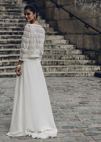 Veste La Fontaine portée sur la robe Malot