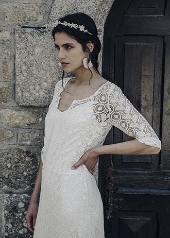 Sur-robe Clèves, sous-robe Drieu & couronne Sidonie Lemaitre x LdeS