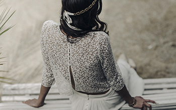 Robe Bernis, couronne Adélaïde & bracelet Adèle