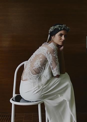 Top Montand, jupe Greta & couronne de fleurs Bergamotte