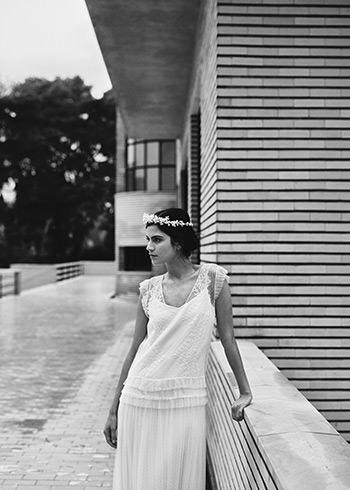 Sur-robe Tracy, sous-robe Drieu & couronne Mimoki