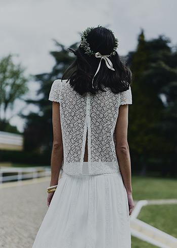 Top Parny, jupe Wood & couronne de fleurs Bergamotte