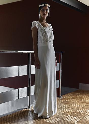 Robe Welles & couronne Dorothée Flores