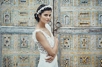 Crimée dress & Soie Labo crown