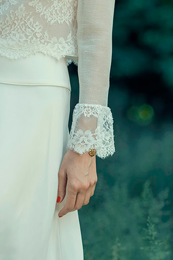Top Pérotin, jupe Beaumesnil & bracelet Marlene