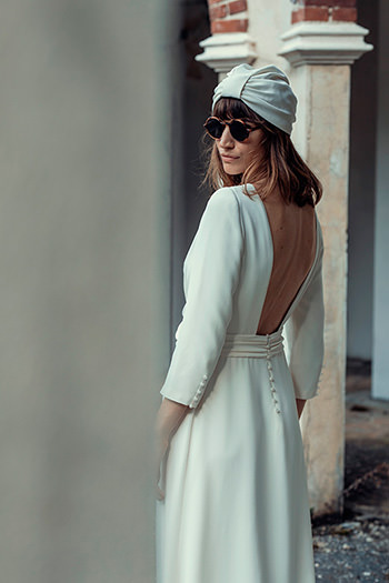 Robe Satie, coiffe Loulou & lunettes Shelter