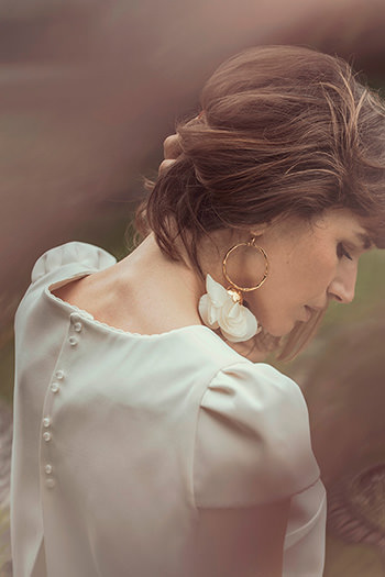 Top Weber & boucles d'oreilles Natura