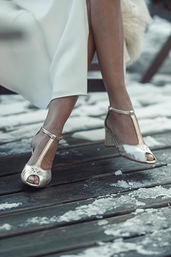 Sandales Orson doré