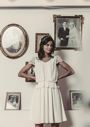 Robe Maupassant & tiare Dorothée Flores x LdeS