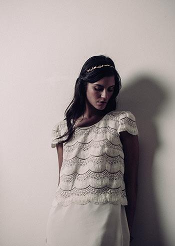 Robe Noailles & tiare Dorothée Flores x LdeS