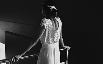 Vestido Welles & corona Dorothée Flores