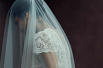 Duris dress & matching veil