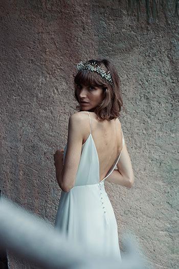 Vestido Lorca & corona Cordelia