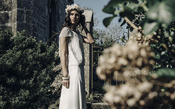 Blusa Valmore, falda Marot & corona Lizeron
